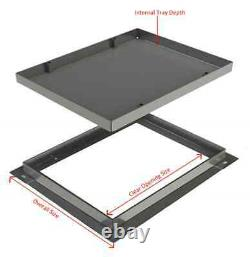 300 x 300 x 80mm Ecogrid Square-to-Round Manhole Cover for Gravel