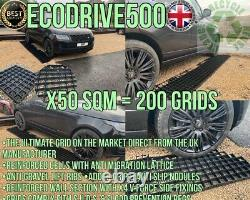 50 Sq/m Driveway Parking Eco Drive Grid Stability Ground Plastic Park Protection