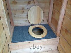 Budget Compost Toilet Waterless Off Grid Eco Friendly Wooden Outdoor Cubicle