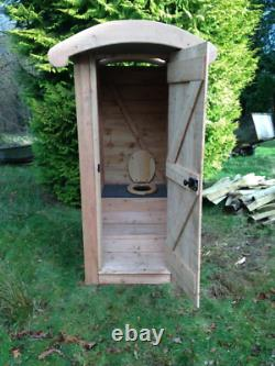 Compost Toilet Waterless Off Grid Eco Friendly Wooden Outdoor Cubicle