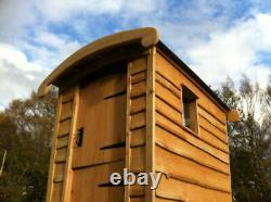 Composting Toilet Waterless Off Grid Eco Friendly Wooden Outdoor Cubicle & Steps