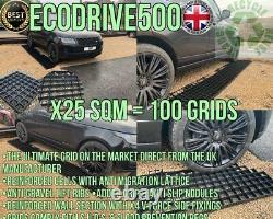 DRIVE GRID KIT 25 SQ MTRs+MEMBRANE ECO DRIVEWAY PLASTIC GRAVEL BASE PAVING GRID2
