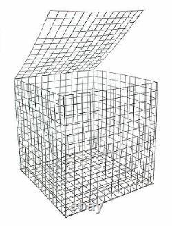 EcoGrid Gabion Basket 0.55 x 0.55 x 0.55m 10 Pack Discount Postage Deal