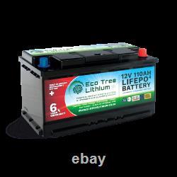 Eco Tree 12v 110AH LiFePO4 Deep Cycle Lithium Battery Heavy Duty BMS Off Grid
