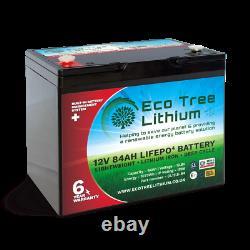 Eco Tree 12v 84AH LiFePO4 Deep Cycle Lithium Battery Heavy Duty BMS Off Grid