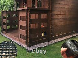 GARDEN SHED BASE BIG SHED BASES 20x10 FEET ECO I GRID PLASTIC FLOOR BASE MATS