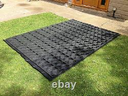 GARDEN SHED BASE KIT 8 x 12 +MEMBRANE ACTUAL BASE IS 12x8.6ft ECO PLASTIC GRIDS2