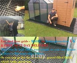 GRAVEL BASE GRIDS GARDEN SHED BASE GREENHOUSE BASES GRAVEL GRIDS ECO BASE MATS s