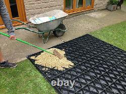 GRID ECO KIT PERMEABLE PLASTIC BASE + HD MEMBRANE GRASS & GRAVEL PAVING MAT em