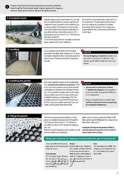 Gravel Grid + Membrane ECO Driveway Grids Car Park Paving EuroGravel BLACK