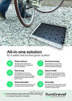 Gravel Grid + Membrane ECO Driveway Grids Car Park Paving EuroGravel WHITE