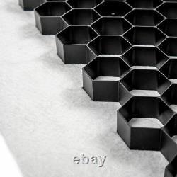 Gravel Grids incl. Membrane EuroGravel Plastic ECO Driveway Paving Grids BLACK