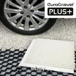 Gravel Grids incl. Membrane EuroGravel Plastic ECO Driveway Paving Grids WHITE