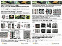 SHED BASE FULL KIT + MEMBRANE FOR A GREENHOUSE BASE ECO PLASTIC DRIVEWAY GRID em