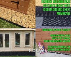 SHED & DRIVEWAY GRIDS +HEAVY DUTY WEED FABRIC PLASTIC POUROUS ECO BASE PAVING em