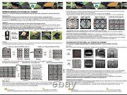 SHED GRID PLASTIC SLAB BASE+HEAVY DUTY MEMBRANE -ECO BASE PLASTIC PAVING FLOORem