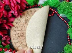 Wheel of the year from Eco Friendly cork Leather, crystal grid, altar tile