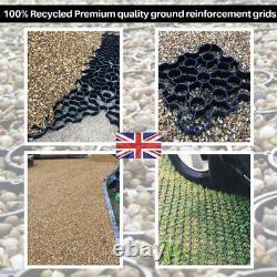 Aire D'entraînement Du Réseau De Renforcement Du Sol Recyclé Eco Grass Gravel Car Park 10 Sqm Uk