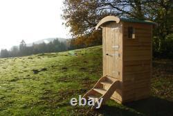 Composting Toilettes Sans Eau Hors Réseau Eco Friendly Cubicle Extérieur En Bois Et Étapes