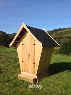 Designer Compost Toilettes Sans Eau Hors Réseau Eco Friendly Cubicle Extérieur En Bois