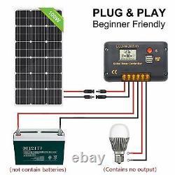Eco-worthy 100 Watt 12v Panneaux Solaires Kit + 20a Contrôleur De Charge Pour Hors-grid 12