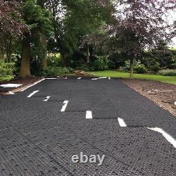 Gravel Grid + Membrane Eco Driveway Grids Parking Paving Eurogravel Black