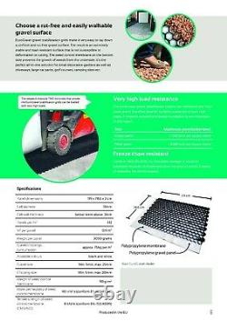 Grille De Gravier + Membrane Eco Driveway Grids Parking Paving Eurogravel Blanc