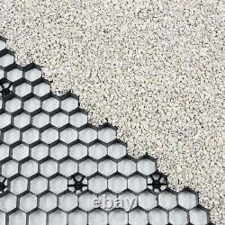 Grilles De Gravier, Y.c. Membrane Eurogravel Plastic Eco Driveway Paving Grids Black