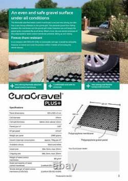 Grilles De Gravier, Y.c. Membrane Eurogravel Plastique Eco Grilles De Pavage D'allée Blanc