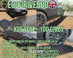 Grive Grid Kit 25 Sq Mtrs+membrane Eco Driveway Plastique Gravel Base Paving Grid2