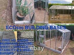 Log Cabine Eco Base Grilles & Kit Membrane Garden Shed Base Greenhouse Base & Floor