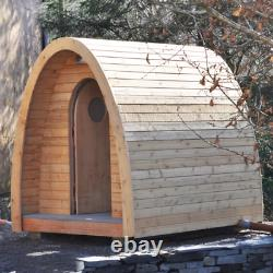 Timber Arc Compost Toilettes Sans Eau Hors Grille Eco Friendly Cubicle Extérieur En Bois