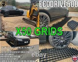 X 50 Grilles De Gravier Grass Drive Grille De Drainage Perméable Slabs Plastique Eco 12,5m2